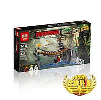 "Конструктор Ninjago Movie Lepin 06059 (аналог Lego 70608) ""Битва Гармадона і Майстра Ву"" 327 деталей, фото 1"