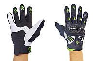 Мотоперчатки кожаные с закрытыми пальцами и протектором Alpinestars M10-BW(M) (р-р M, черный-белый)