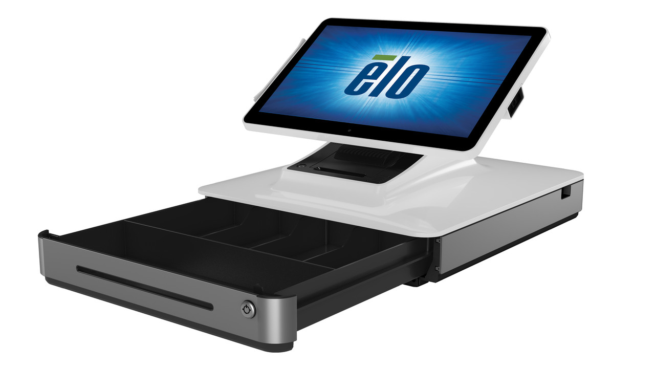 "13,3"" Elo PayPoint для Windows Сенсорний pos термінал з принтером, сканером штрих коду, скринькою для грошей"