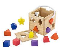 Деревянный сортер Viga Toys Кубик (53659)