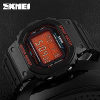 Часы спортивные Skmei OldSchool 1134 - Black@Orange (5 bar), фото 1
