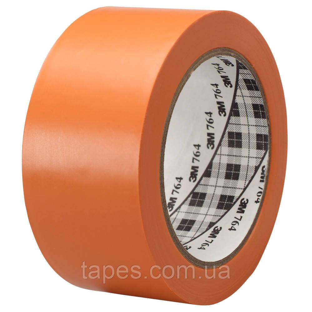 Разметочная лента 3М 764 для разметки пола (50мм х 33м х 0,13мм) оранжевая
