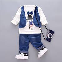 Костюм для мальчика брюки и реглан с жилеткой, фото 1