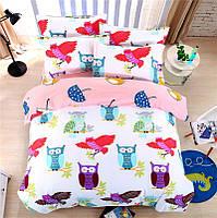 Комплект постельного белья Owls (полуторный) Berni, фото 1