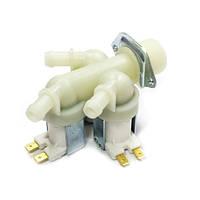 Клапан электромагнитный 3x180 481981729332 для стиральной машины Indesit, Ariston, Hotpoint, Candy, Hoover, Wh