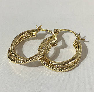 bf0dc36eebb6 Серьги кольца Феличе ( под европейское золото 750 пробы)  купить в ...