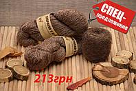 """Набор """"Эко"""", из 100% необработанной шерсти и итальянской бобинной альпаки, Темный шоколад"""