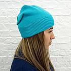 Шапка подростковая Woman's heel голубая (Ш-440), фото 2