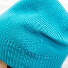 Шапка подростковая Woman's heel голубая (Ш-440), фото 3