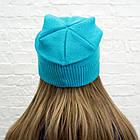 Шапка подростковая Woman's heel голубая (Ш-440), фото 4