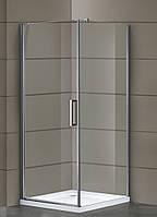 Eger RUDAS душкабина квадратная 90*90*205 см, поддон (PUF) 5 см, распашная, стекло прозрачное, левая