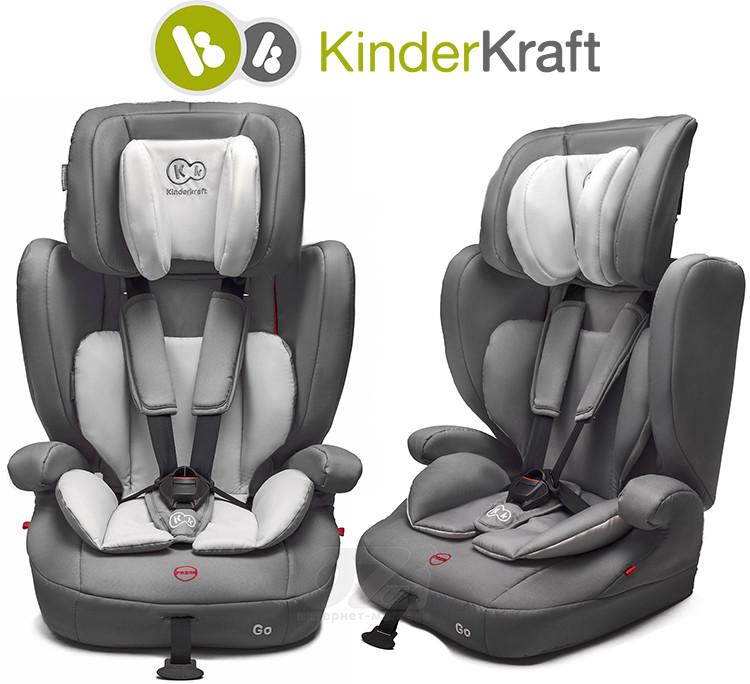 Автокрісло KinderKraft GO 9-36 кг сіре