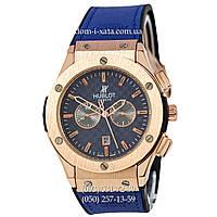 Мужские наручные часы Hublot 882888 Classic Fusion Blue-Gold-Blue, Хублот классик