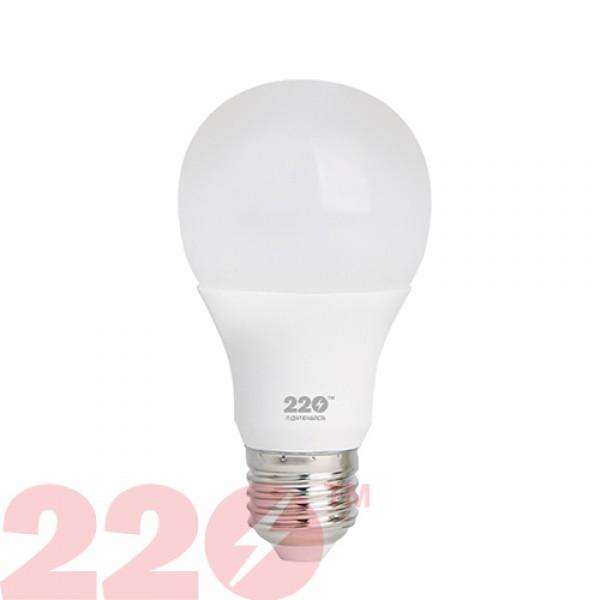 LED лампа A60 7.0W 220В E27 3000К 220тм