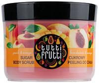 "Пилинг сахарный для тела ""Персик и манго"" Farmona Tutti Frutti Sugar Scrub, 300 ml."
