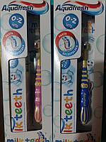Детская зубная паста+зубная щетка Aquafresh (0-2), 50 мл