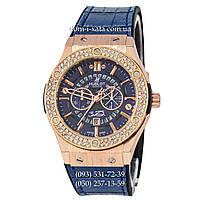 Мужские наручные часы Hublot 882888 Classic Fusion Crystal Blue-Gold-Blue, Хублот классик