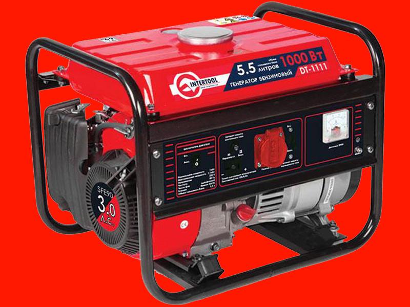 Бензиновый генератор Intertool DT-1111 на 1 кВт