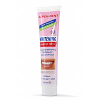 Отбеливающая зубная паста для чувствительных зубов Alpen-Dent Whitening Sensitive Teeth, 100 ml.