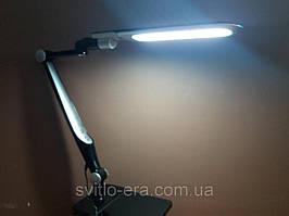Настольная Лампа ЛЕД (струбцина в комплекте) мощность 10вт (сенсор +димер) чёрная