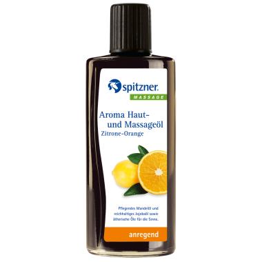 """Масло массажное для улучшения функций кожи """"Лимон-Апельсин"""" Spitzner Arzneimittel, 190 ml."""