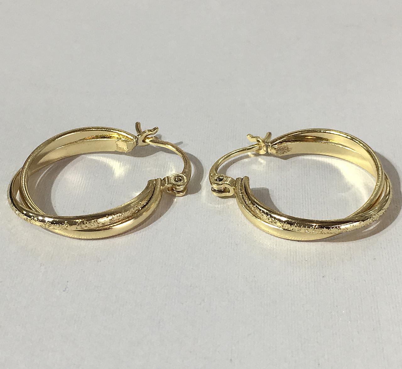 0db7e06f71e2 Серьги кольца ( под европейское золото 750 пробы) - VIkiDIm - Ювелирная  бижутерия оптом и