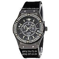 Мужские наручные часы Hublot 882888 Classic Fusion Crystal All Black, Хублот классик