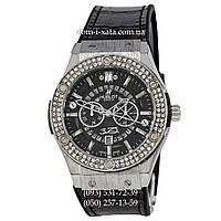 Мужские наручные часы Hublot 882888 Classic Fusion Crystal Black-Silver-Black, Хублот классик