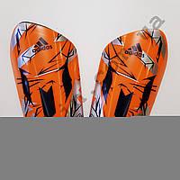 Щитки футбольные Adidas Messi оранжевые