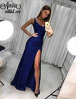 Вечерние длинное платье из поеток