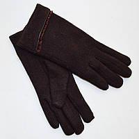 Женские утепленные перчатки из кашемира Коричневые Tanya 02-09 M