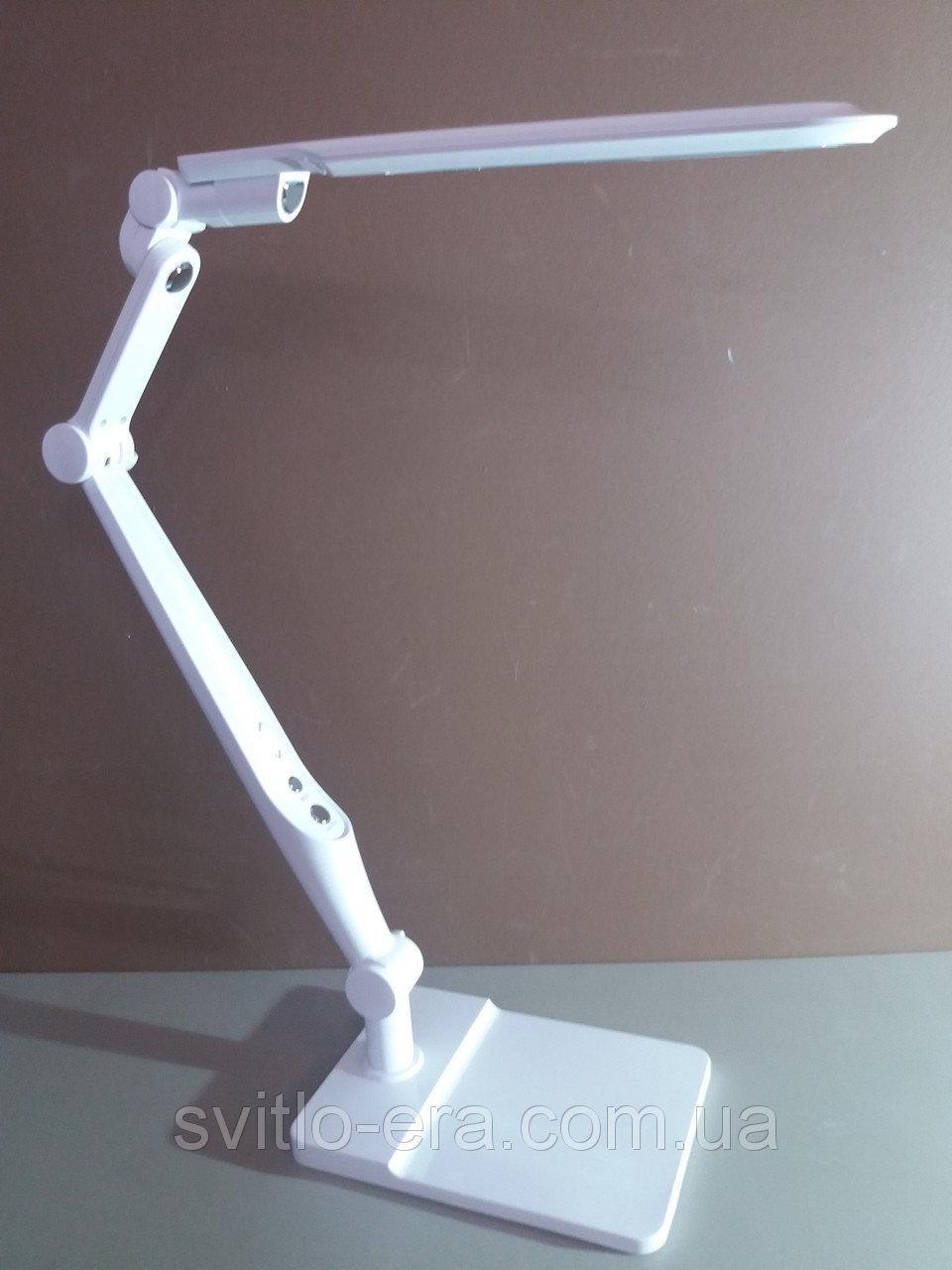 Настольная Лампа ЛЕД (струбцина в комплекте) мощность 10вт (сенсор +димер) белая