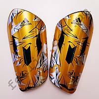 Щитки футбольные Adidas Messi желтые