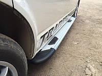 Боковые пороги Bosphorus Grey для авто Kia Sorento UM 2015+ гг.(пара, алюминий)