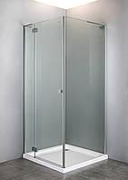 VOLLE BENITA душевая кабина квадратная 90*90*190 см (стекло+дверь), распашная, хром, прозрачное