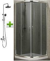 EGER BALATON душ кабина 90*90*198 см, (поддон PUF)+NOVA VLNA система (смес. д.душа, верхн и руч душ, 3 режима