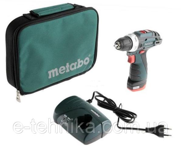 Аккумуляторный шуруповерт Metabo PowerMaxx BS Basic СУМКА