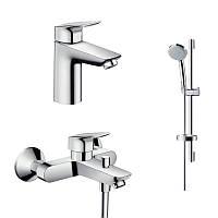Hansgrohe Logis Набор смесителей для ванны (71100000+71400000+27772000)