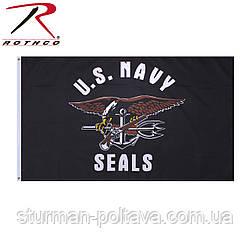 """Прапор Navy Seals """"Морські котики"""" розмір 150 Х 90 см Rotcho USA"""