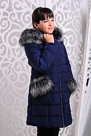 Зимняя куртка для девочек Рукавичка (122-146 см)