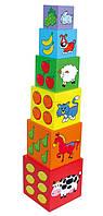 Набор кубиков Viga Toys Пирамидка (59461)