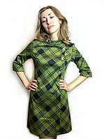 Платье женское в клетку до колена П190
