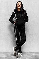 Теплый женский спортивный костюм на меху с худи 14SP149