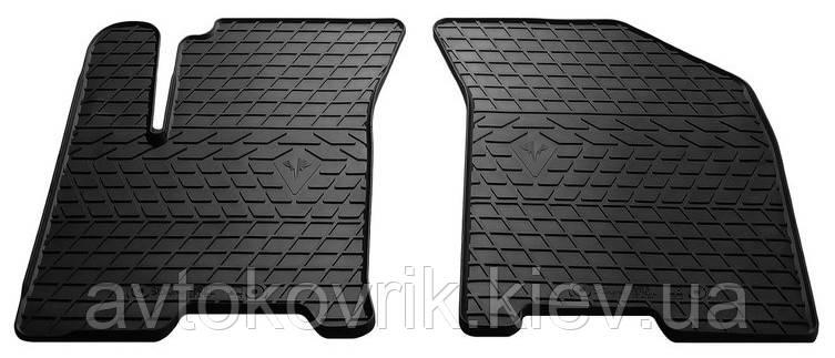 Резиновые передние коврики в салон Chevrolet Aveo (Т250) 2005- (STINGRAY)