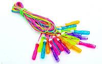 Скакалка детская с PVC жгутом FI-4866 (10шт в уп, цена за 1шт) (l-2,7м, d-4,6мм, цвета в ассортим)