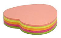 Блок бумаги для заметок Сердце 45х50 мм 4 цвета 80 листов Economix E20950