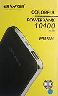 Зарядное Устройство Power Bank AWEI P84k 10400mAh Polymer