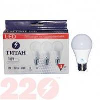 LED ЛАМПА А60 15.0W 220В E27 3000К ТМ ТИТАН (ПАК 3 ШТ)