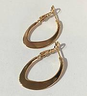 Серьги кольца Дизайн под советское золото