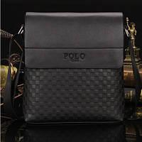 Мужская сумка с шахматным рисунком Polo. Черная